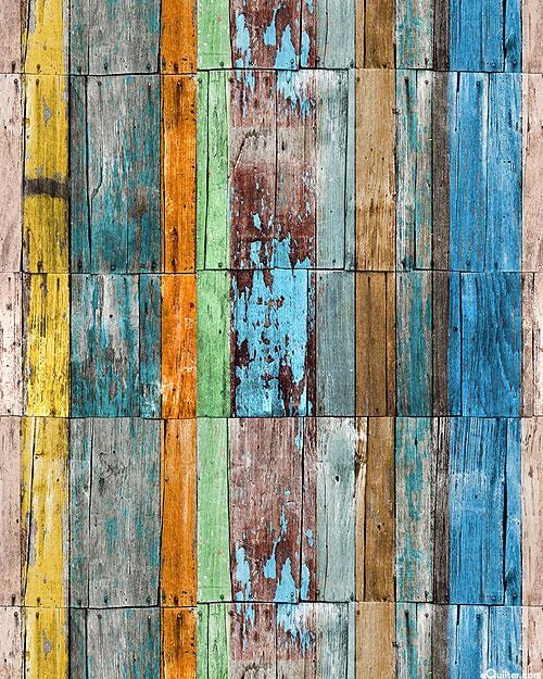 Grunge Wood Texture - Weathered Paint - Multi - DIGITAL PRINT