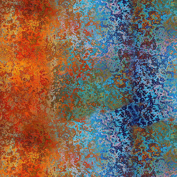 Urban Rust Texture - Multi/Patina - DIGITAL PRINT