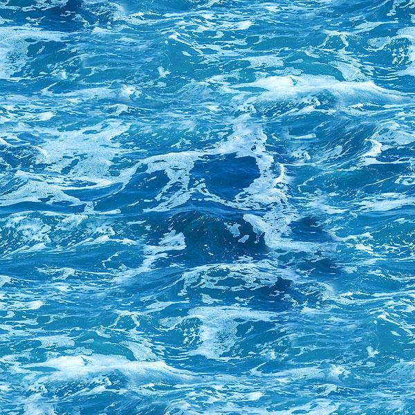 Water - Seafoam & Waves - Lagoon Blue - DIGITAL PRINT