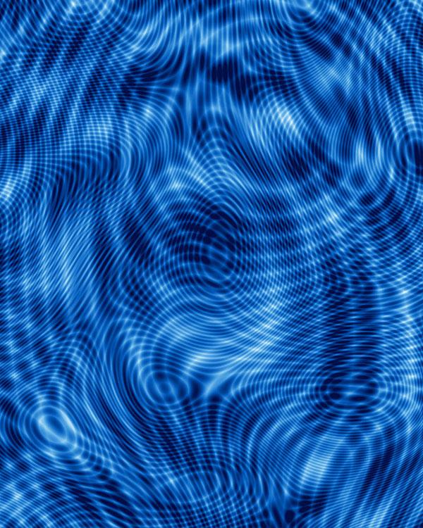 Moire Texture - Royal Blue - DIGITAL PRINT