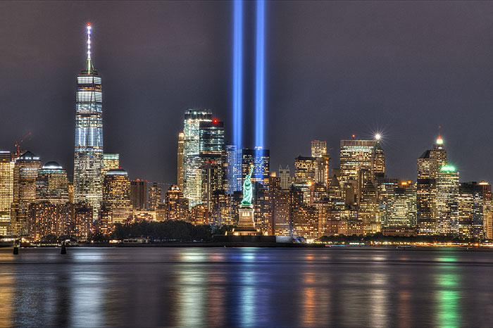"NYC Skyline 9/11 Memorial - 29"" x 44"" PANEL - DIGITAL PRINT"