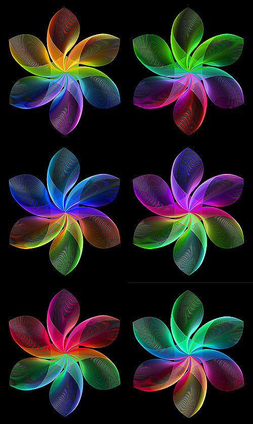 "Color Spectrum Flowers - 29"" x 44"" PANEL - DIGITAL PRINT"
