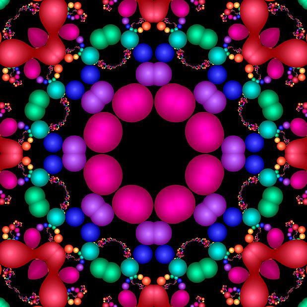 Fractal Kaleidoscope - Black - DIGITAL PRINT