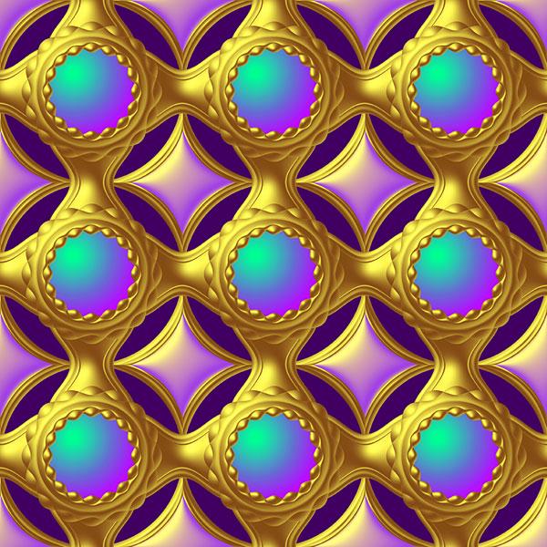 Ornamental Jewels - Amethyst Purple - DIGITAL PRINT