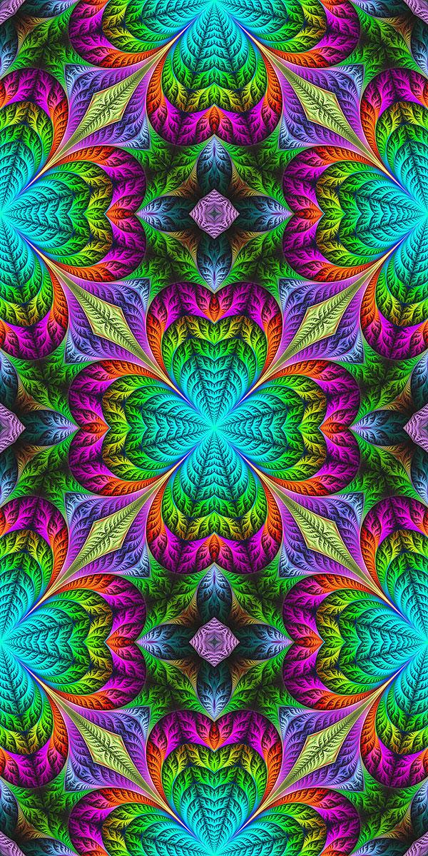 Fractal Flowers - Teal - DIGITAL PRINT