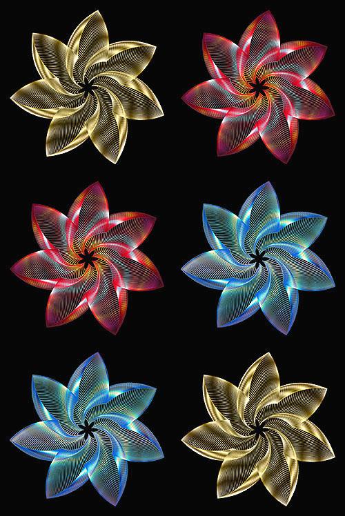 "Prismatic Flowers - Jewel - 29"" x 44"" PANEL - DIGITAL PRINT"