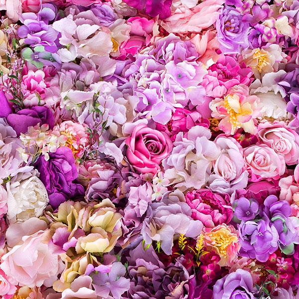 Roses, Peonies & Hydrangeas - Lavender - DIGITAL PRINT