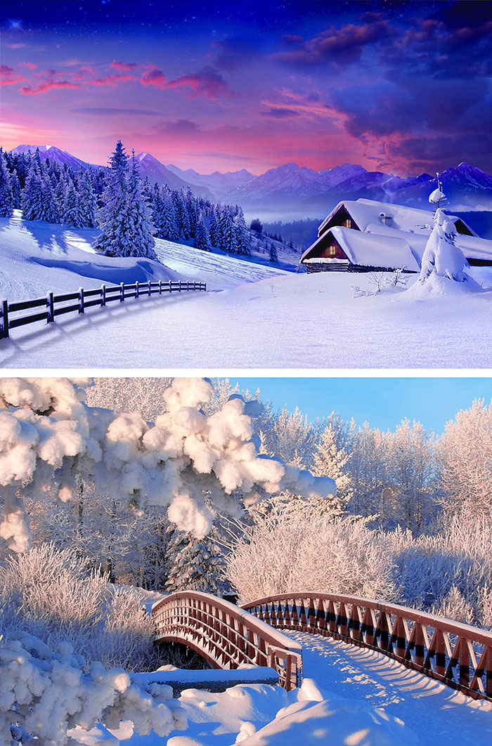 "Winter Scenes - 29"" x 44"" PANEL - DIGITAL PRINT"
