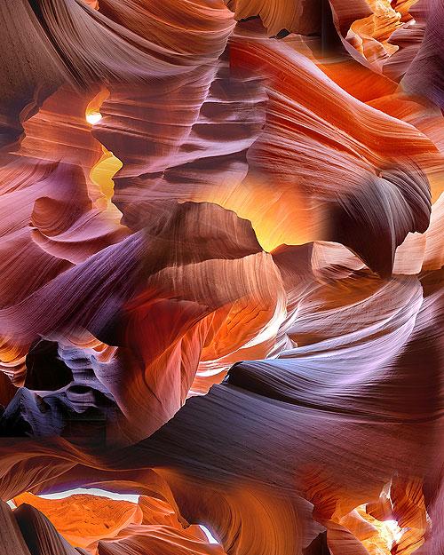 Antelope Canyon Allover - Terracotta - DIGITAL PRINT