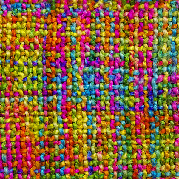Woven Yarn Look Alike - Rainbow - DIGITAL PRINT