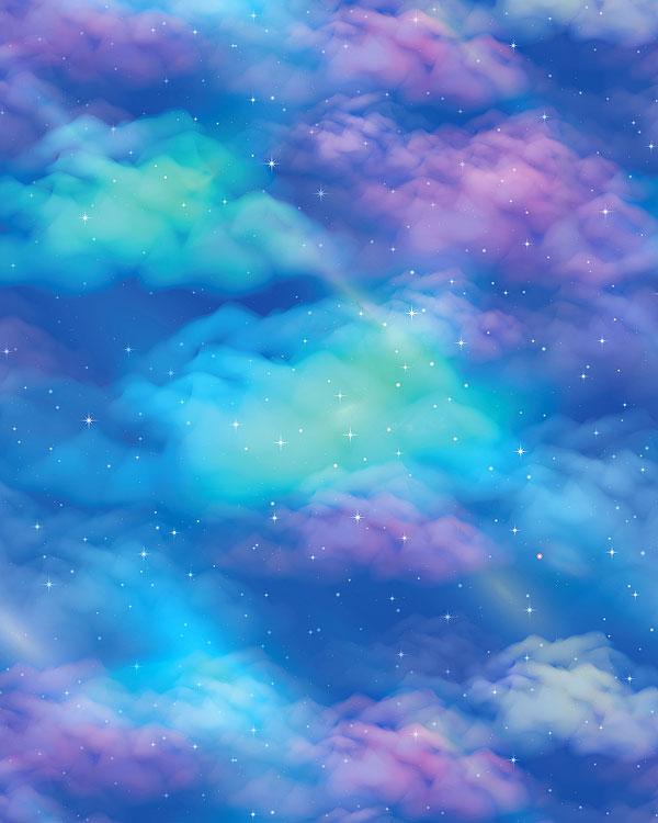 Fantasy Space Nebula - Pastel - DIGITAL PRINT