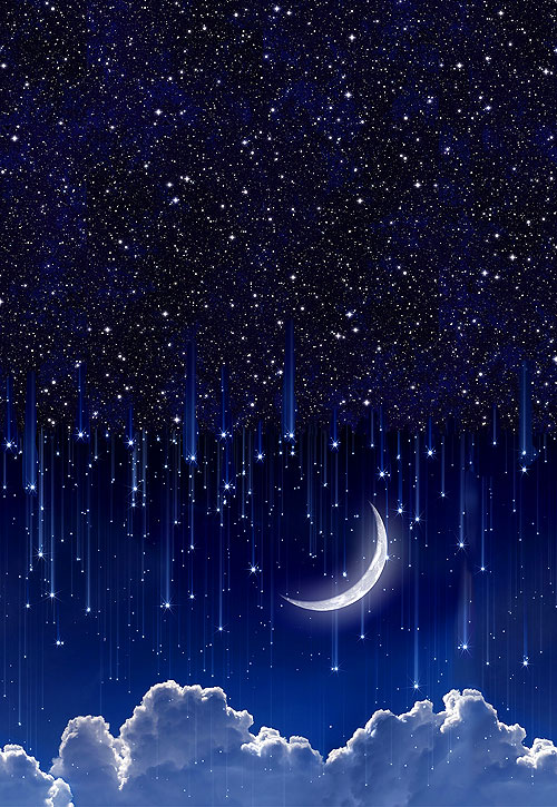 Day & Night - Moonlight Double Border - DIGITAL PRINT