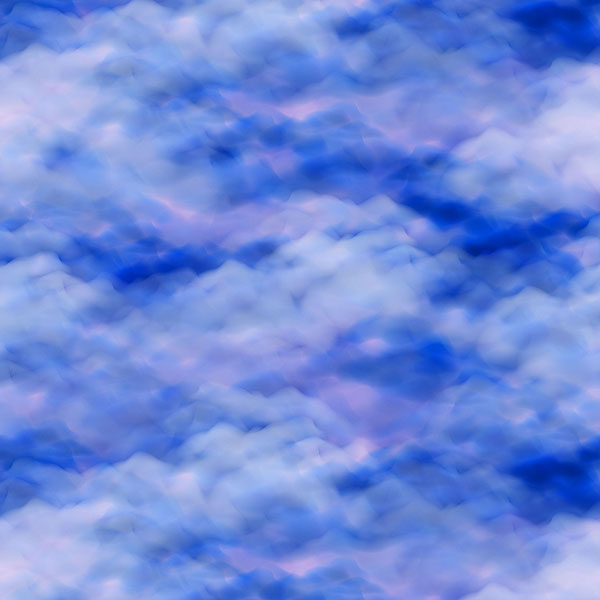 Cloudscape - Royal Blue - DIGITAL PRINT