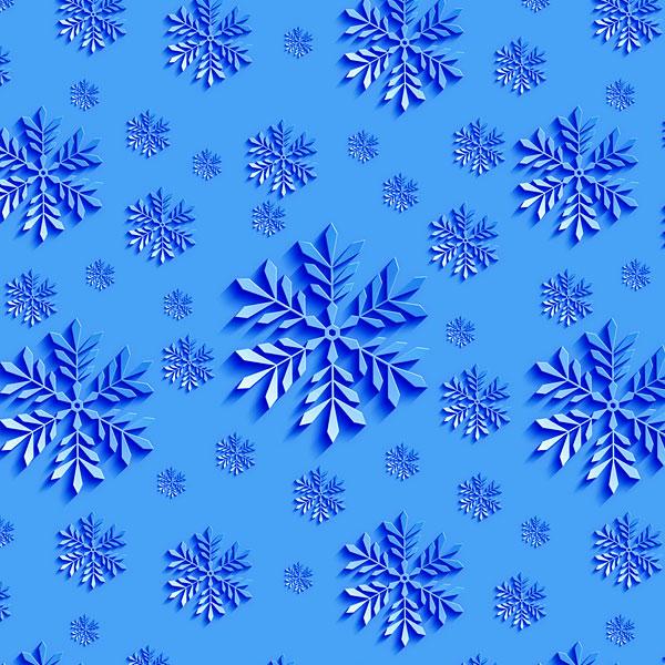Snowflakes Cutouts - Sky Blue - DIGITAL PRINT
