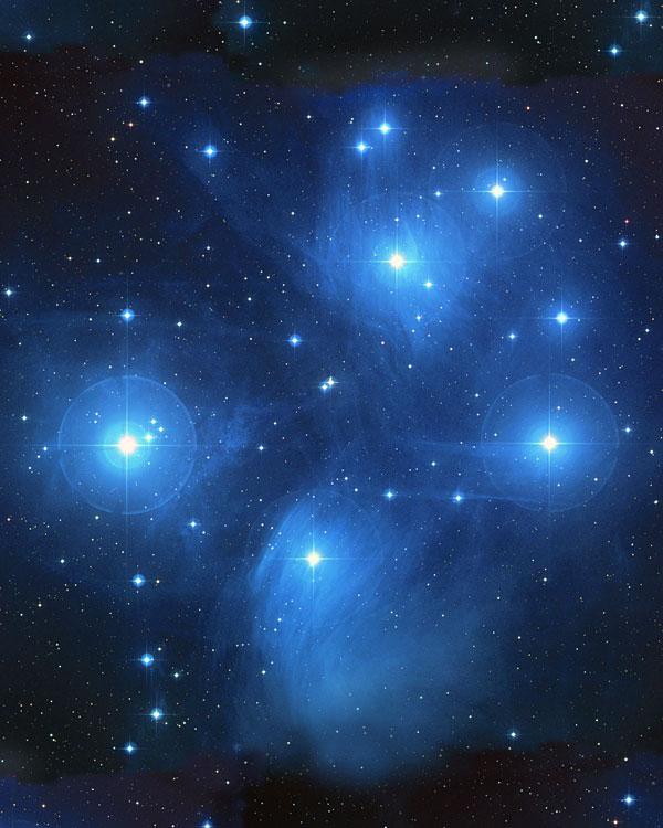 Space - Pleiades Star Cluster - Dk Blue - DIGITAL PRINT