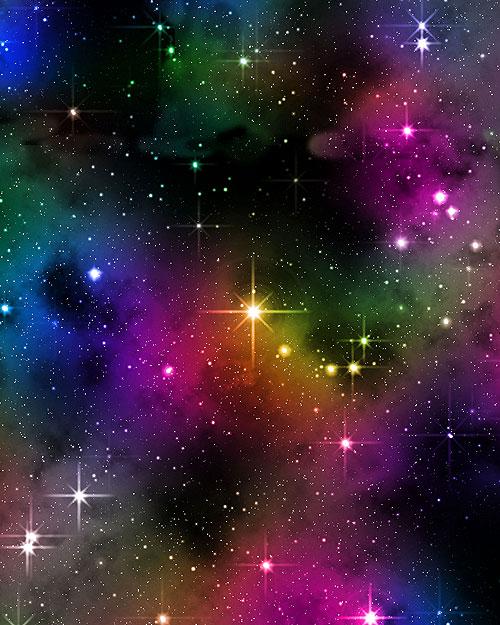 Space - Star Bright - Multi - DIGITAL PRINT