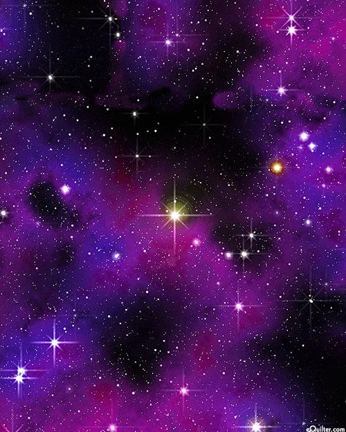 Space - Star Bright - Violet - DIGITAL PRINT