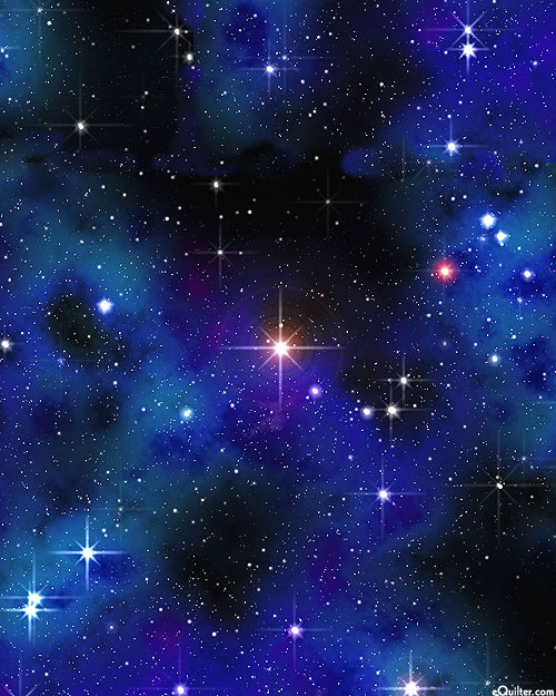 Space - Star Bright - Black - DIGITAL PRINT