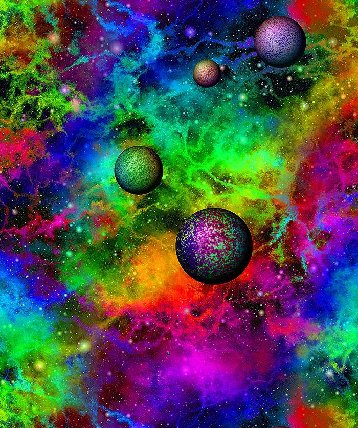 Space - Colorful Universe - Multi - DIGITAL PRINT