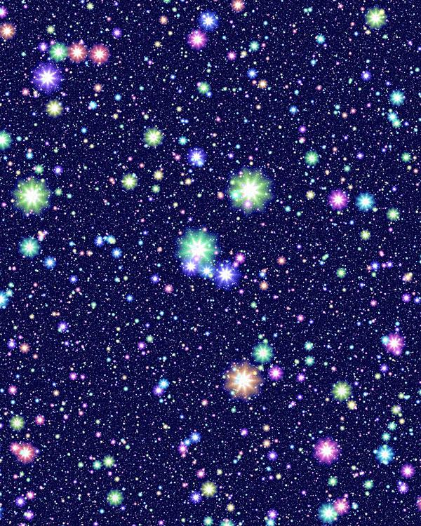 Space - Midnight Starry Sky - Navy Blue - DIGITAL PRINT