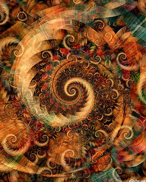 Fractal Spirals - Eternal Repetition - Sepia - DIGITAL PRINT