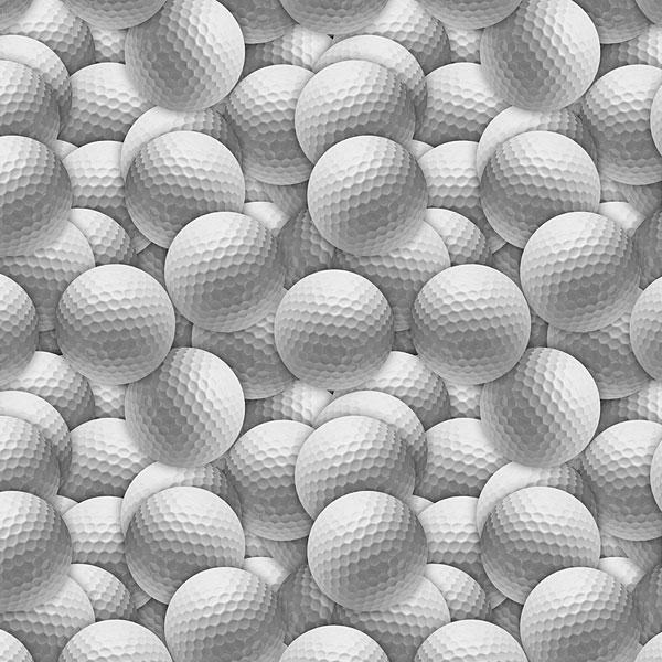 Sports - Golf Balls - Fog Gray - DIGITAL PRINT