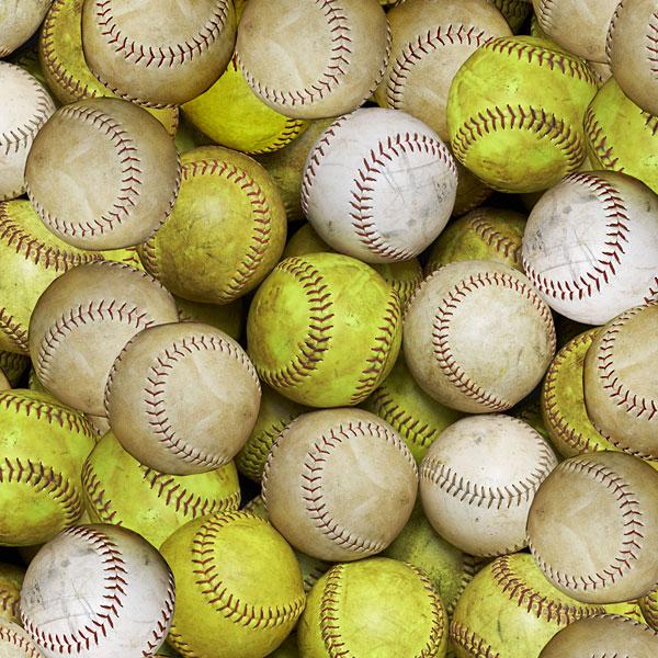 Sports - Softballs - Sandy Beige - DIGITAL PRINT