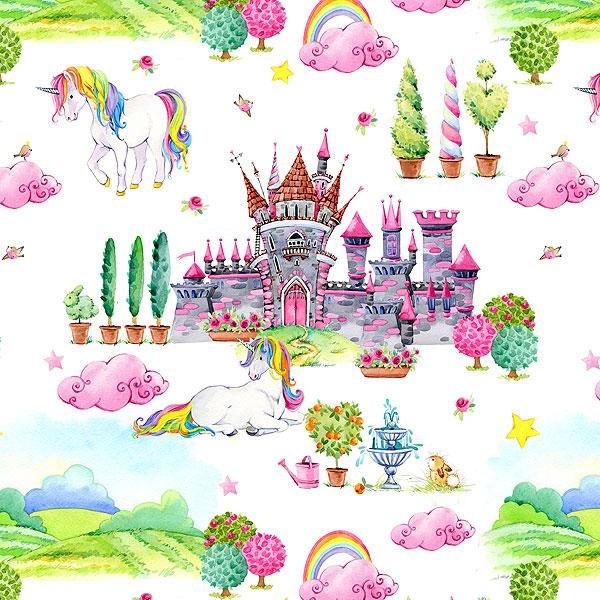 Castles and Unicorns - White