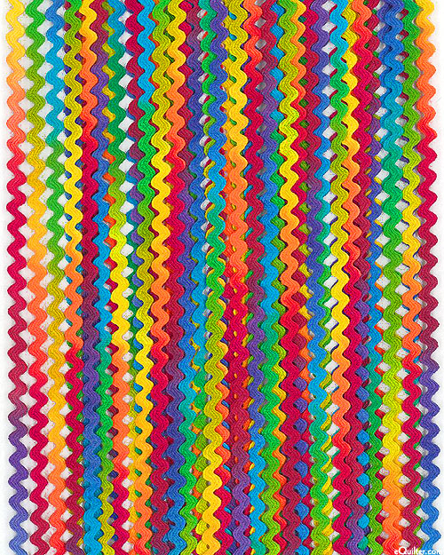 Rick Rack - Rainbow HAND-DYED - Cotton - 1/4""
