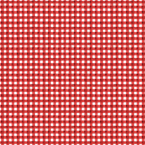 Hungry Animal Alphabet - Gingham Picnic - Classic Red