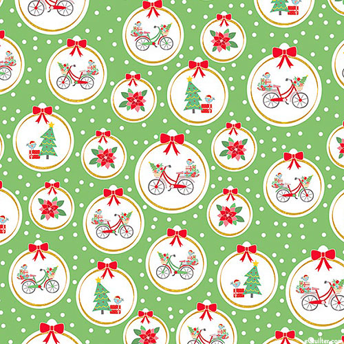 Christmas Adventure - Bike Courier - Leaf Green/Gold