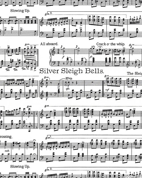All About Christmas - Silver Sleigh Bells - White