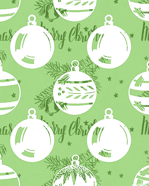 All About Christmas - Dazzling Ornaments - Leaf Green