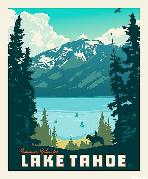 "Destinations - Lake Tahoe - 36"" x 44"" PANEL"
