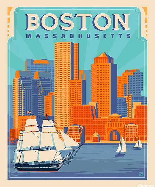 "Destinations 2 - Boston Massachusetts - 36"" x 44"" PANEL"
