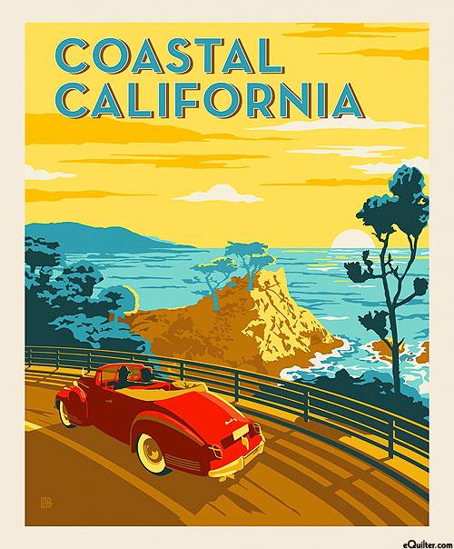 "Destinations 4 - Coastal California - Ivory - 36"" x 44"" PANEL"