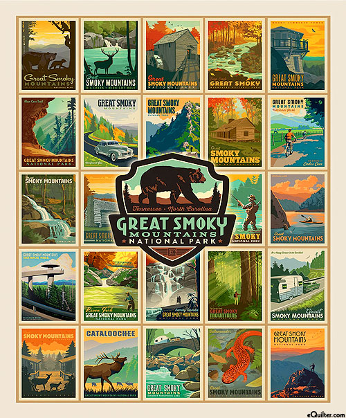 """Destinations 4 - Great Smoky Posters - Ivory - 36"""" x 44"""" PANEL"""