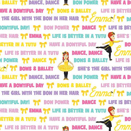 The Wiggles Emma - Bows & Ballet - White