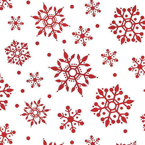 Gnome For Christmas - Beautiful Blizzard - White - FLANNEL