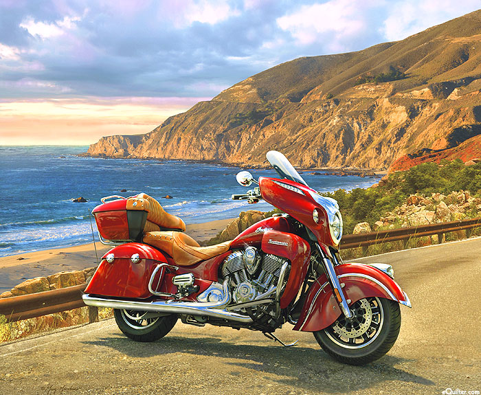 "Indian Motorcycle -Touring Coast to Coast - 36"" x 44"" PANEL"