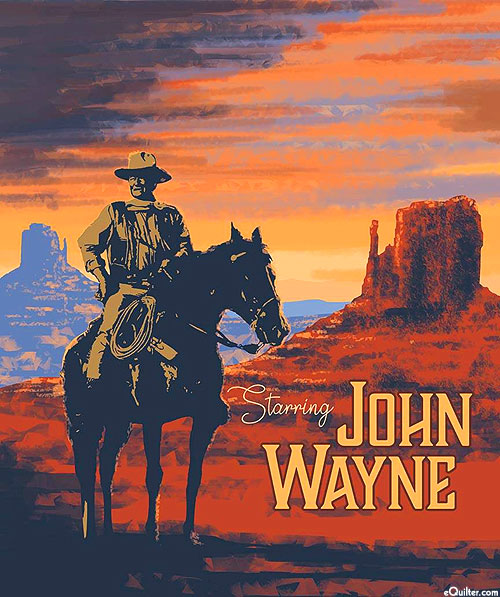 "John Wayne - Western Star - 36"" x 44"" PANEL - DIGITAL PRINT"