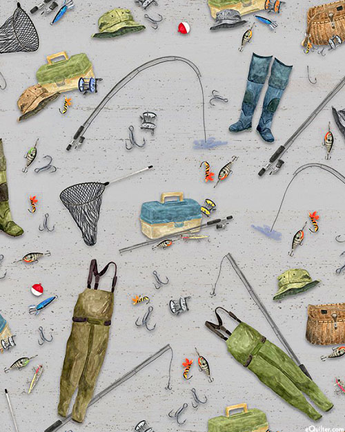 At The Lake - Fishing Essentials - Pewter Gray