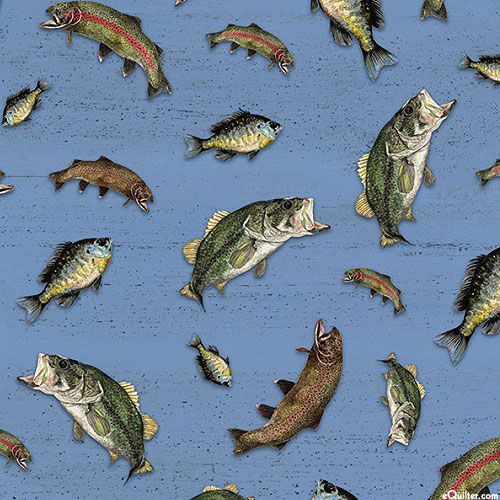 At The Lake - Pond Fish - Steel Blue