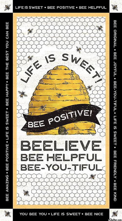"""Bee's Life - Life is Sweet - 24"""" x 44"""" PANEL"""