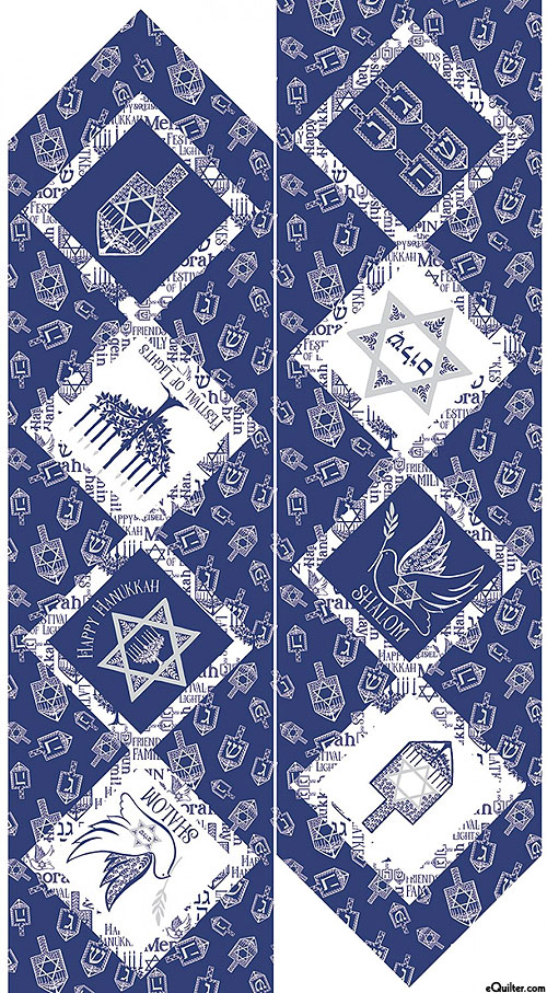 "Festival Of Lights - Table Runner - Silver - 24"" x 44"" PANEL"
