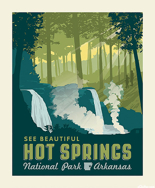 "National Parks 3 - Hot Springs Arkansas - 36"" x 44"" PANEL"