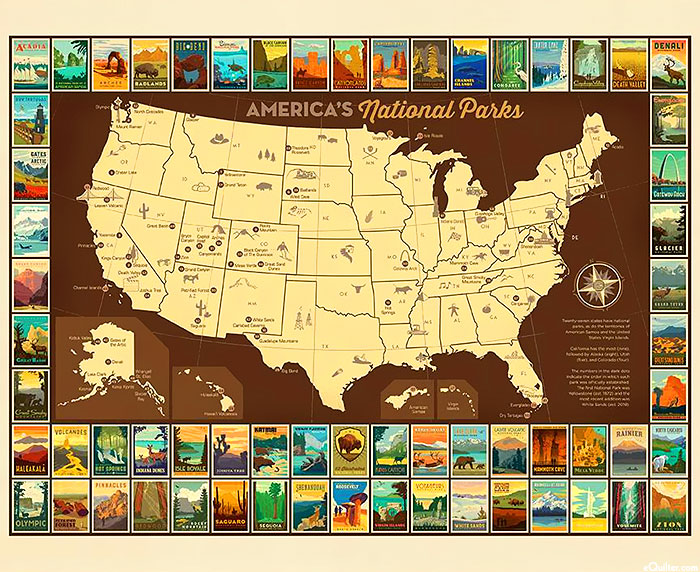 "National Parks 3 - America's National Parks - 36"" x 44"" PANEL"