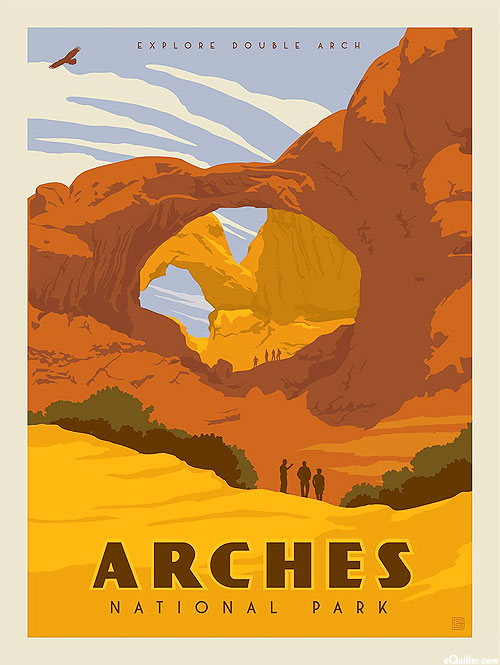 "National Parks - Arches Utah - 36"" x 44"" PANEL"