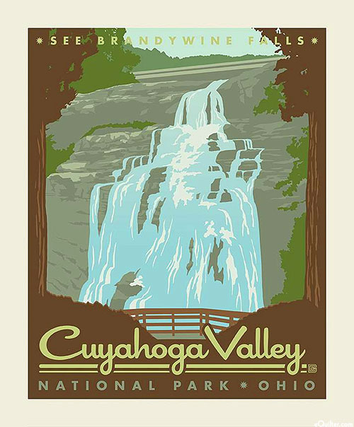 """National Parks 3 - Cuyahoga Valley Ohio - 36"""" x 44"""" PANEL"""