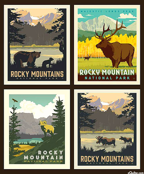 """National Parks 2 - Rocky Mountain Posters - 36"""" x 44"""" PANEL"""